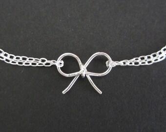 Set of 5: Sterling Silver Bow Bracelet Set. 5 Sterling Silver Bow Bracelet. Tie the Knot Bracelet. 5 Bridesmaids. 5 Bridal Thank You Gifts.