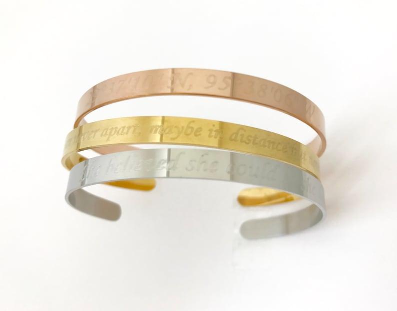 Custom Name Cuff Bracelet Stainless Steel Bangle.Roman Numeral Date Bracelet Anniversary.Friendship.Family.Bridesmaid.Valentine/'s Day Gift