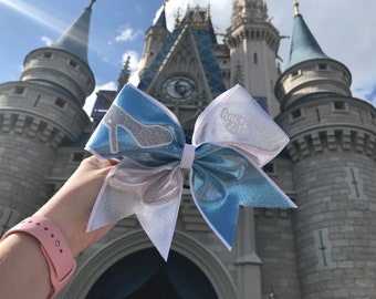 Cinderella Inspired Cheer Bow
