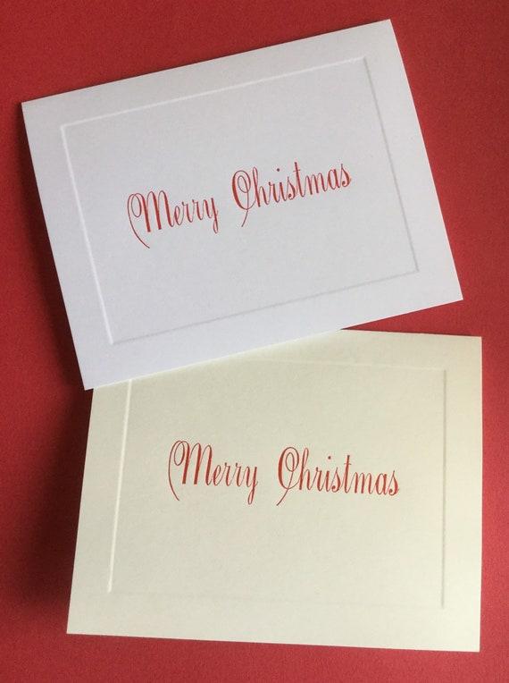 Letterpress Christmas Cards.Letterpress Christmas Cards Merry Christmas Set Of 10 Cards With Matching Envelopes