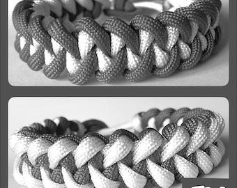 Classy Contrast Reversible Paracord Bracelet
