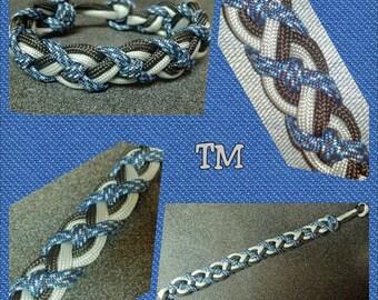 Denim Woven Paracord Bracelet