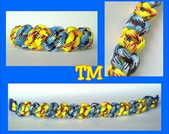 Blue Macaw Paracord Bracelet