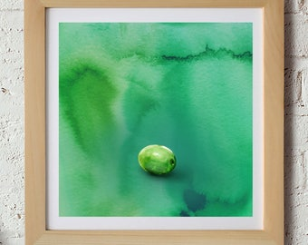 Green, Olive, Gift for Chef, Gift for Designer, Gift for Foodie, Color Theory, Watercolor, Food Illustration, Kitchen Illustration, Olives