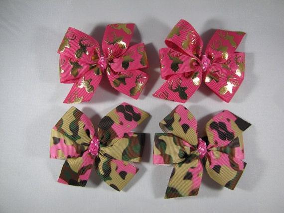 Pink Deer Hair Bow
