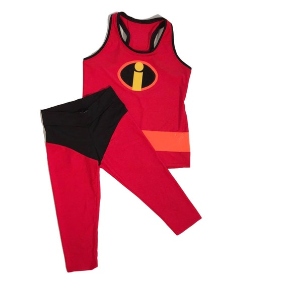 Disney Incredible Inspired running costume- Capris Only