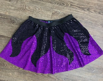 Ursula Sea Witch Skirt   Running Sparkly Skirt Little Mermaid Villain Costume Skirt