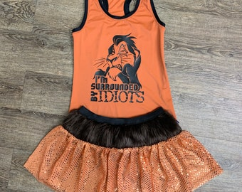 Scar Lion from Lion King Running Villain Costume   Sparkly Athletic Costume