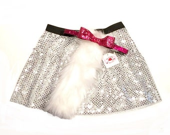 Marie cat combo with pink headband/bow (non-slip)