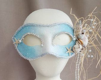 MERMAID FAIRY  Handpainted Mask