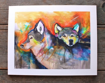 Love Series # 5 - Wolves - 11'' x 14''