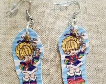 Rainbow Brite Faux Leather Earrings