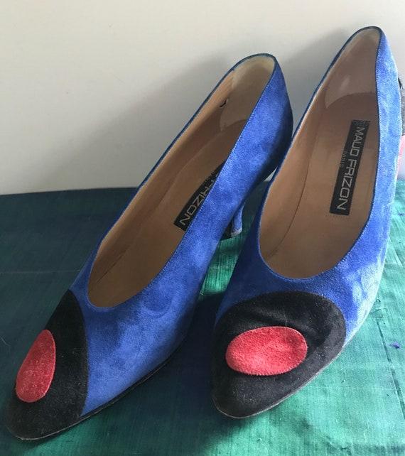 Maud Frizon blue vintage heels
