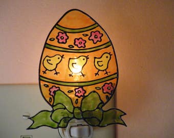 Orange Easter Egg Night Light