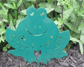 Frog Stake will add fun to any garden