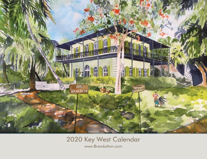 Key West Calendar 2020 2020 Key West Calendar Hemingway House Blue Heaven Sloppy | Etsy