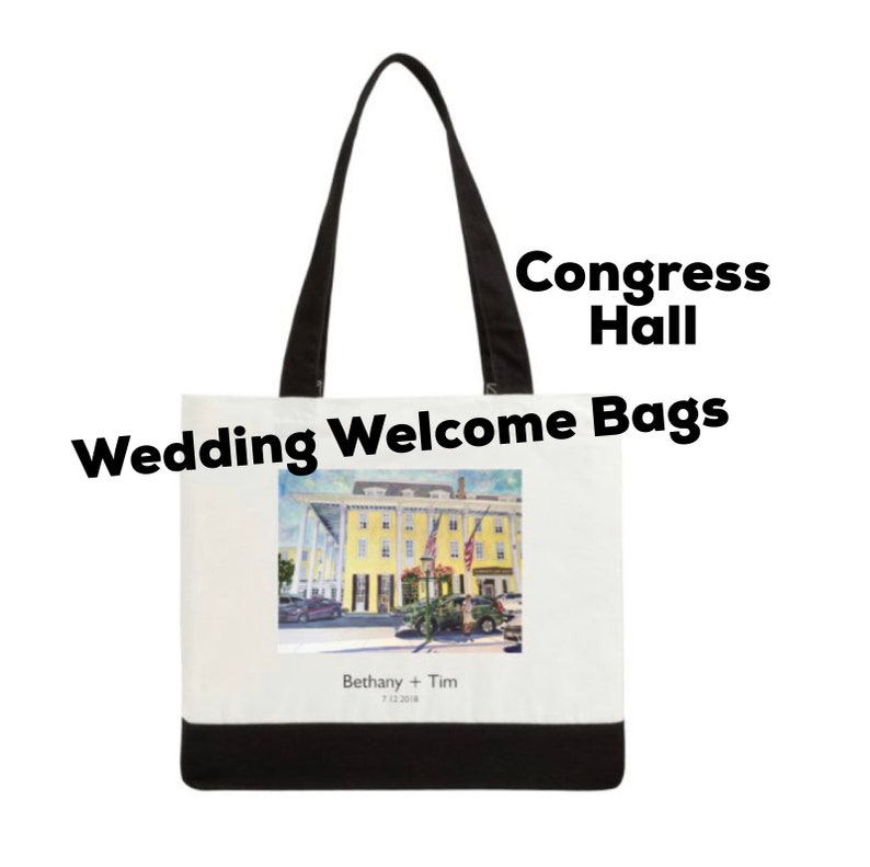 a80ef3b4607f15 Wedding Welcome Tote Bag Congress Hall in Cape May New