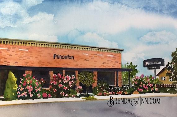 The Princeton Avalon >> Avalon The Princeton In Avalon Nj Hand Signed Archival Watercolor Print Wall Art By Brenda Ann