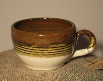 Soup Mug Cream and Copper