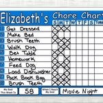 Chore Chart Shipped! Works like Dry Erase Board, Set Chores, Behaviors, Goals, & Rewards