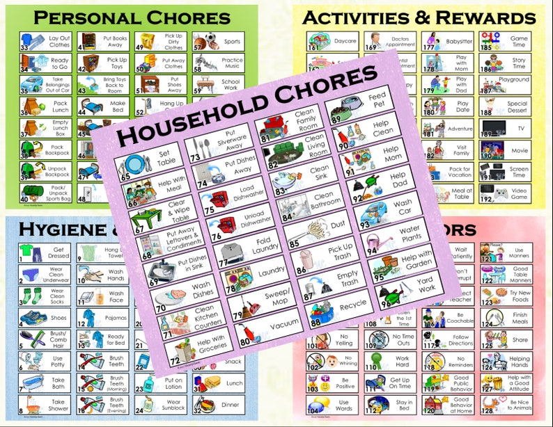 photo relating to Printable Allowance Chore Chart named Chore Token pack for Prompt Down load for Allowance Chore Chart or Toward Do Listing (192 chore, routines, or jobs)