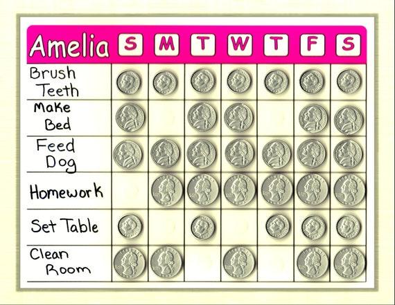 Magnétique-Rainbow-Points Reward Chart-Comportement-objectifs-corvées stylo sans//Autocollants