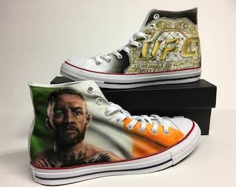 e39c75bf1c6e UFC Conor Mcgregor fan theme custom Converse All Star