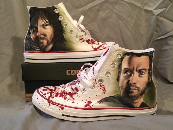 Custom Painted Converse All Stars Zombie Theme | Men's