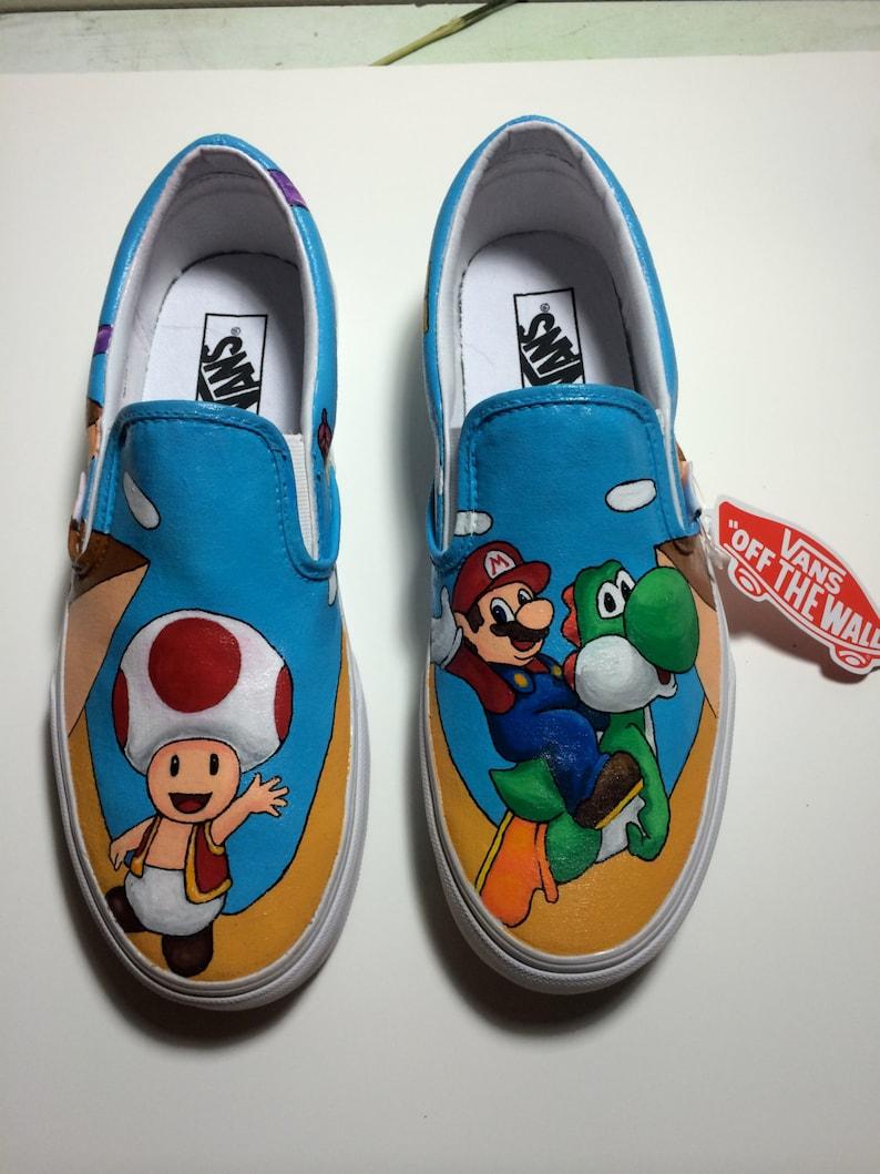 391e3185a093 Super Mario Custom Vans shoes