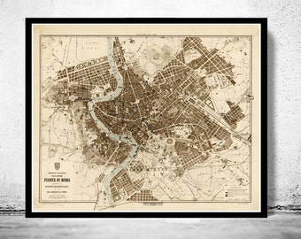 OLD MAPS AND POSTERS PRINTS Maps Reproductions By OldCityPrints - Antique map reproductions for sale
