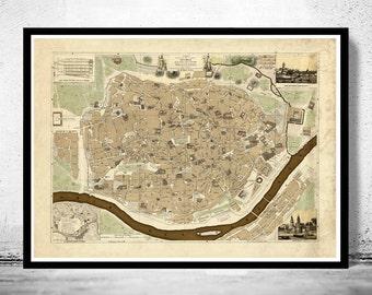 Map of seville | Etsy