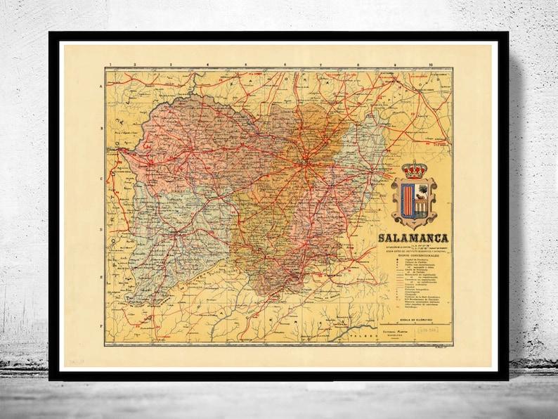 Salamanca Spanien Karte.Alte Karte Von Salamanca Region 1900 Spanien