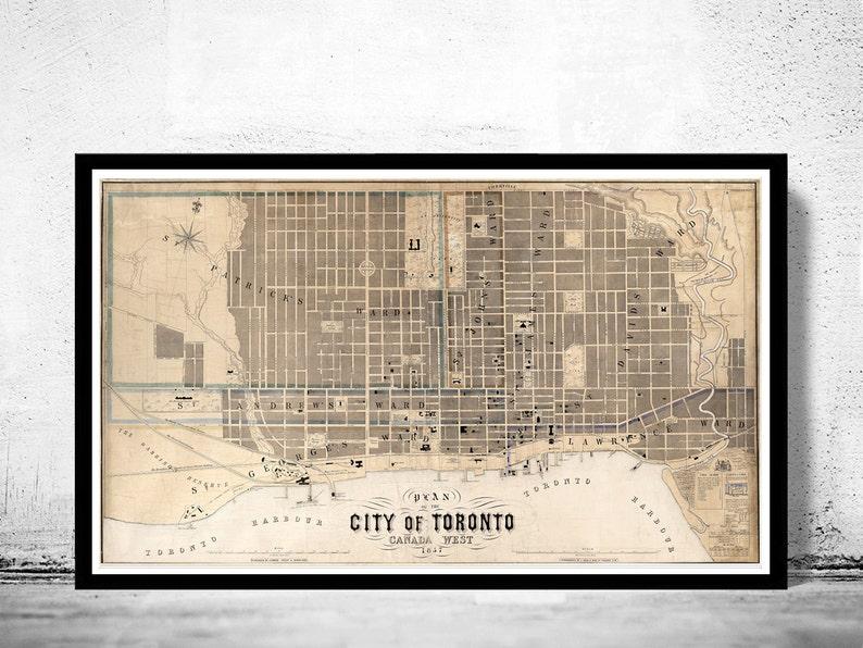 Old Map Of Toronto Ontario Canada 1857 Vintage Map Toronto Etsy