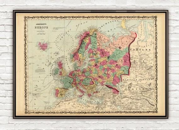 Cartina Europa 1860.Vecchia Mappa Dell Europa 1860
