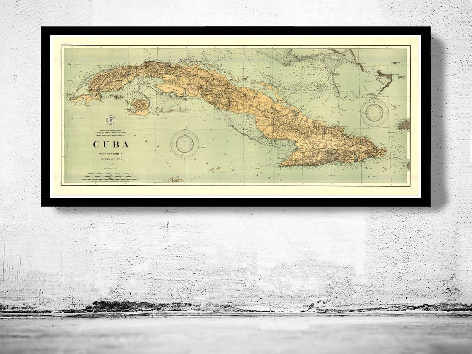 Old Map of Cuba 1898 Vintage Map | Etsy
