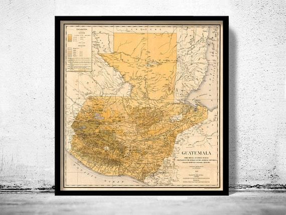 Old map of guatemala 1902 altavistaventures Images