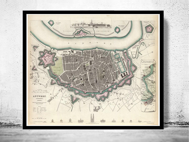 1832 Map of Antwerp