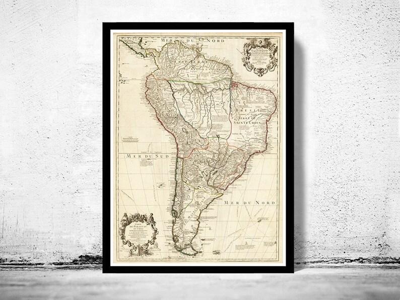 Peru Karte Südamerika.Alte Karte Südamerika Brasilien Venezuela Peru Argentinien Chile 1708