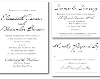 MY ELEGANT Printable Wedding Invitation