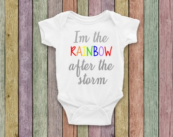 aa5f146471d5 Rainbow baby onesie