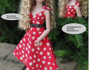 PDF Doll Clothes  Sewing Patterns for 16'' Ellowyne Doll ELL-7 by NVME