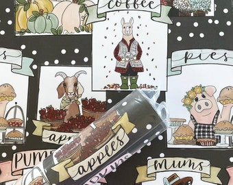 Gift Wrap - Fall Farmers Market - 2 Pack