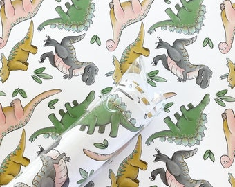 Gift Wrap - Dino Repeat - 2 Pack