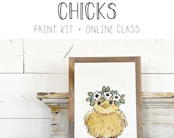 Chicks - Paint Class Kit + Online Class