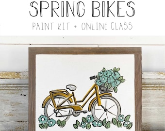 Spring Bicycle - Paint Class Kit + Online Class