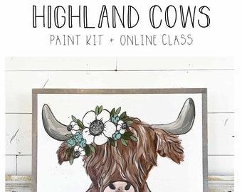 Highland Cows - Paint Class Kit + Online Class