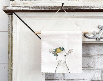 Ready to ship - Baby Lamb - Banner/Wall Hanging/ Pennant