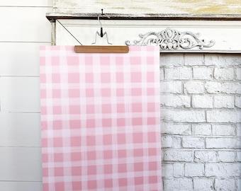 Gift Wrap - Pink Gingham