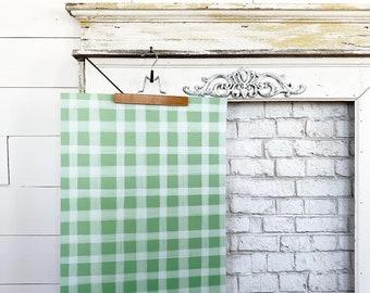 Gift Wrap - Green Gingham