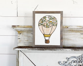 Hot Air Ballon with flowers